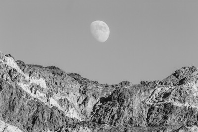 Moon. Artist Drive. Death Valley National Park
