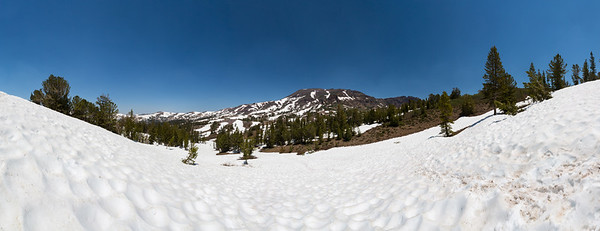 Panorama. Sonora Peak. Pacific Crest Trail near Sonora Pass. Stanislaus National Forest, CA, USA