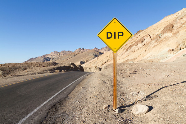 Dip. Artist Drive. Death Valley National Park