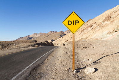 Dip. Artist Drive. Death Valley National Park