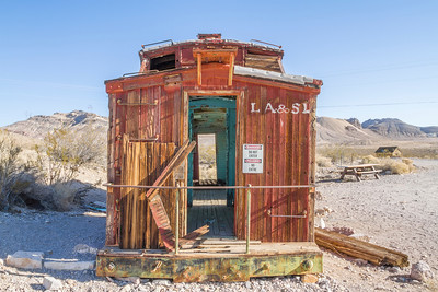 HDR Composition. Abandoned Gas Station. Rhyolite Ghost Town - Rhyolite, NV