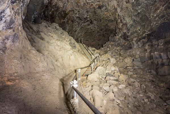 Skull Cave. Lava Beds National Monument - Tulelake, CA, USA
