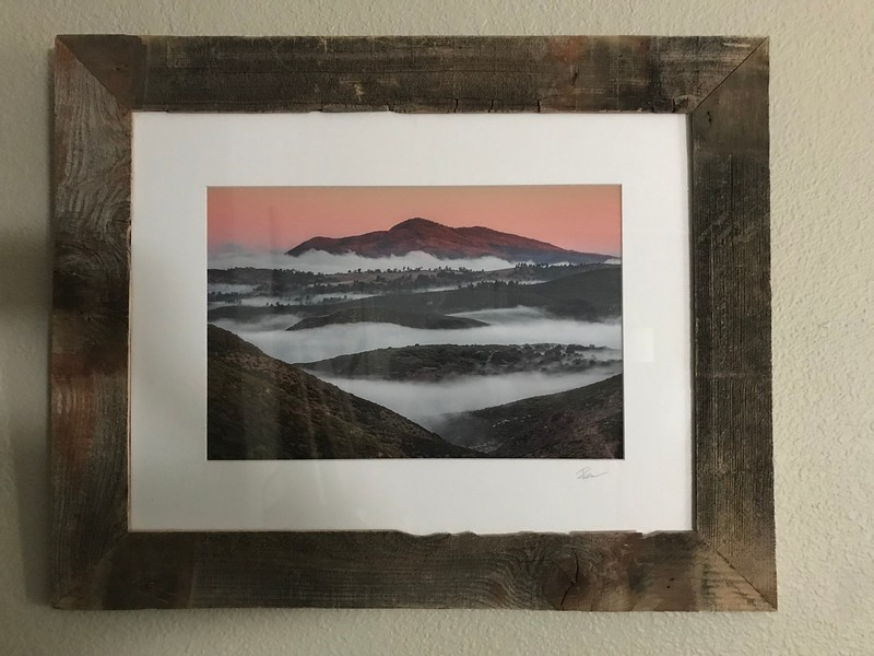 """Through the darkness to the dawn.."" 12x18 print 18x24 Hand Made Frame"