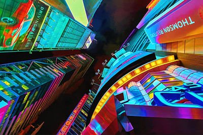 Brush strokes can't contain an electrifying Times Square
