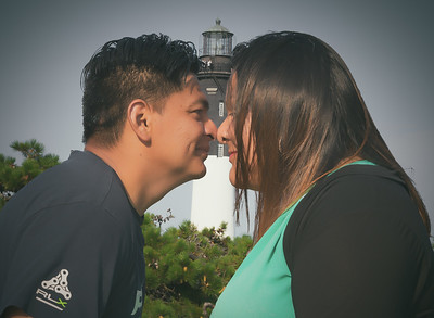 Couples in love are never far from the lighthouse