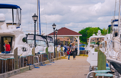 High tide or Curb side Parking At Northport Harbor