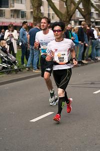 Marathon runners running