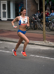 Female marathon runner