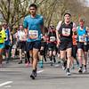 Elderly marathon runner
