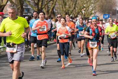 Rotterdam marathon runners