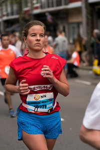 Runner in red and blue