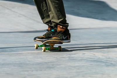 Balancing on skateboard