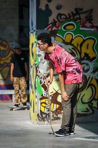 Dude and graffiti
