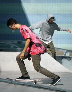 Two dancing skaters