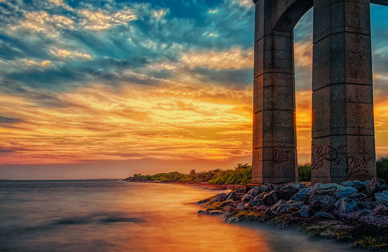 Colorful Robert Moses Causeway Bridge