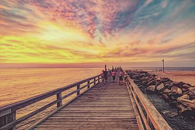 Spectacular Sunset over The Pier, Cedar Beach