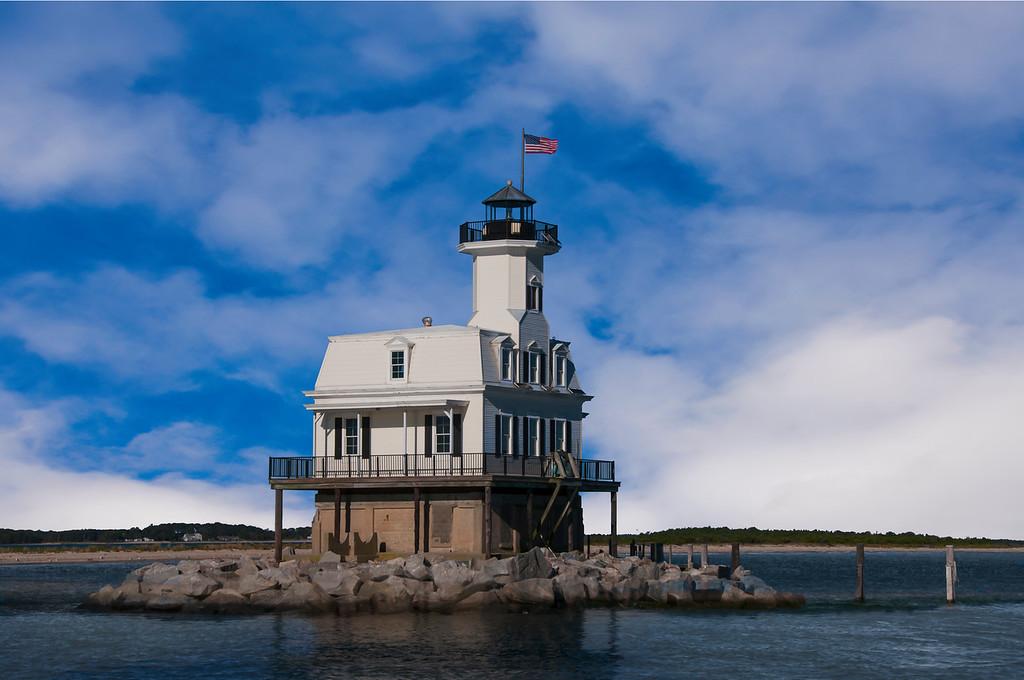 Long Beach Bar Bug Light Lighthouse.
