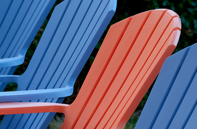 Color Pattern with Outdoor Chairs