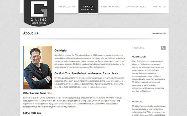 Gilling Legal Group Website