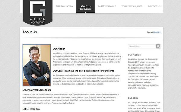 Gilling Legal Group Website