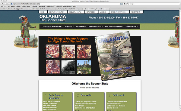 OKC Aerials, Oklahoma State History Textbook Cover