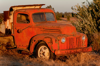 1942 Ford Dump Truck at Sunset