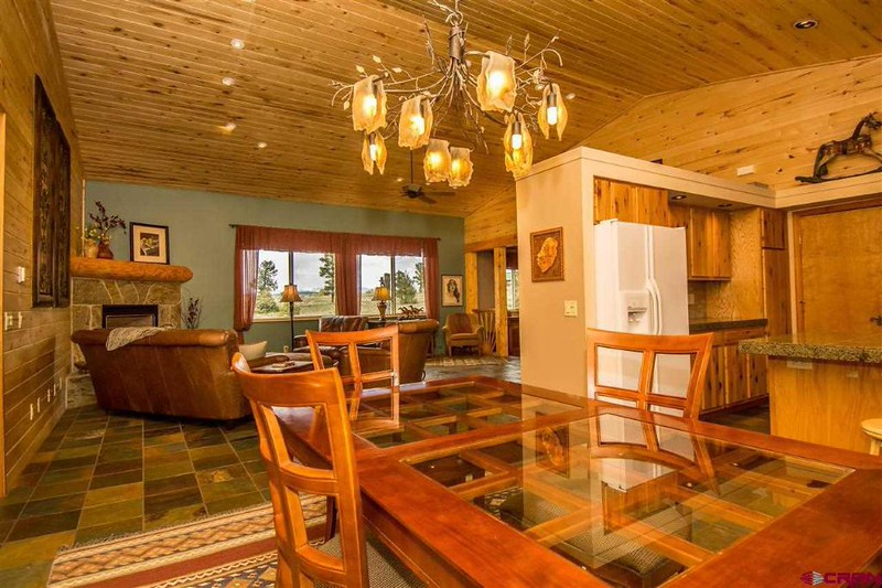 From the dining room, looking across to the living room.