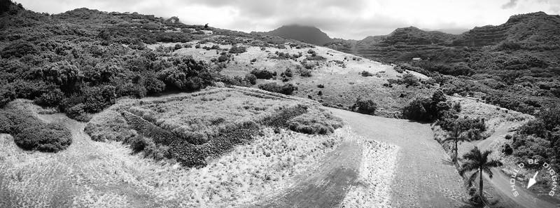 Pahukini Heiau overlooks Kawainui Marsh on the windward coast of O'ahu.