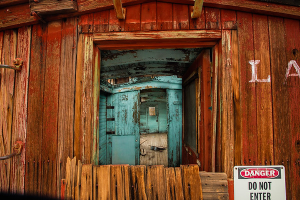 Looking Into The Old Caboose