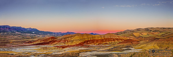 """Nature's Palette,"" Sunset over the Painted Hills, Painted Hills, John Day Fossil Beds National Monument"