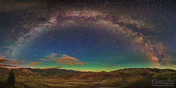 """""""Desert Silence,"""" Painted Hills Milky Way Arch, John  Day Fossil Beds National Monument, Painted Hills Unit, Oregon"""