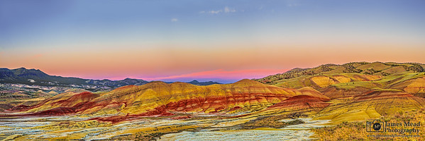 """Celebrated Delight,"" Painted Hills Sunset, Painted Hills, John Day Fossil Beds National Monument"