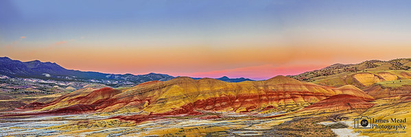 """Pastel Wonder,"" Pastel Sunset over the Painted Hills, Painted Hills, John Day Fossil Beds National Monument, Oregon"