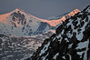 First Light on Grays and Torreys Peaks from Mount Evans