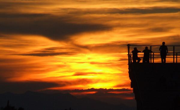 Tiger Stadium Sunset