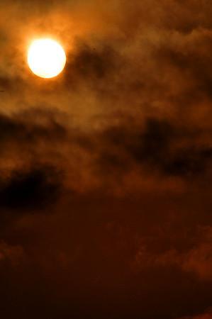 Misty Sunset on the South Platte