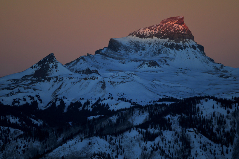 First Light on Uncompahgre
