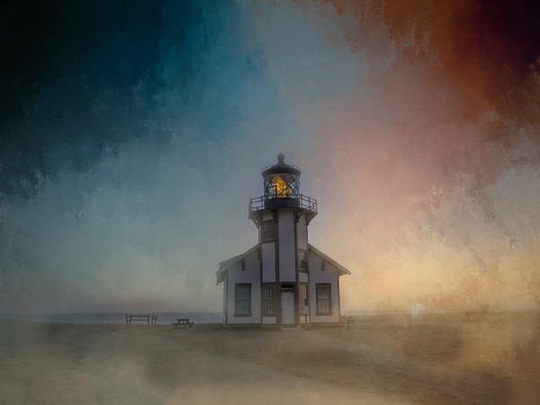Cabrillo Lighthouse with Painterly Effects
