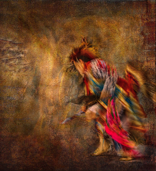 Seminole Tribal Dancer - Into the Flame