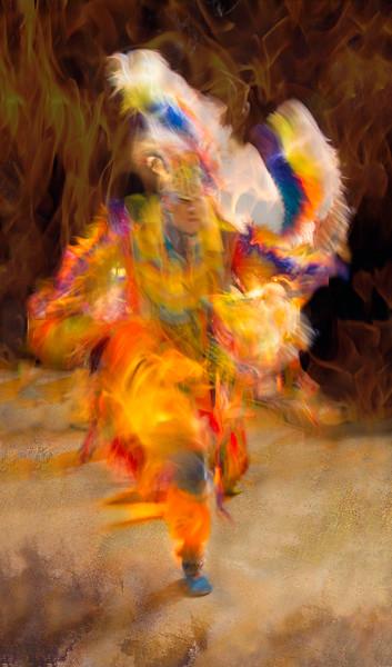 SEMINOLE TRIBAL DANCER - FIRE