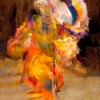 SEMINOLE TRIBAL DANCER - FIRE