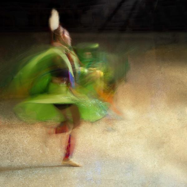 Seminole Tribal Dancer -  Lady in Green