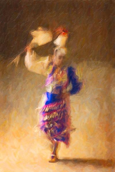 Seminole Tribal Dancer Series - Woman with Broom