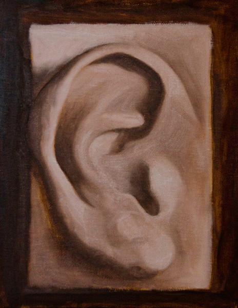 Ear Study (plaster cast)