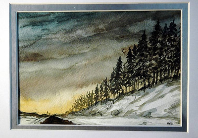 Fort Macmurray, 2009, 5x 8 inch, water color on special paper