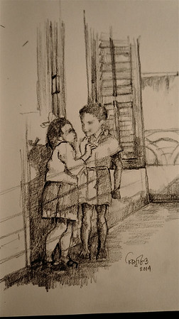 Sei je seenguli,  (The lost days) Pencil on paper, 2014- Biswajit Nayak