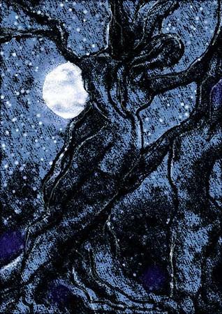 Illusive night, pencil and paper, 2007