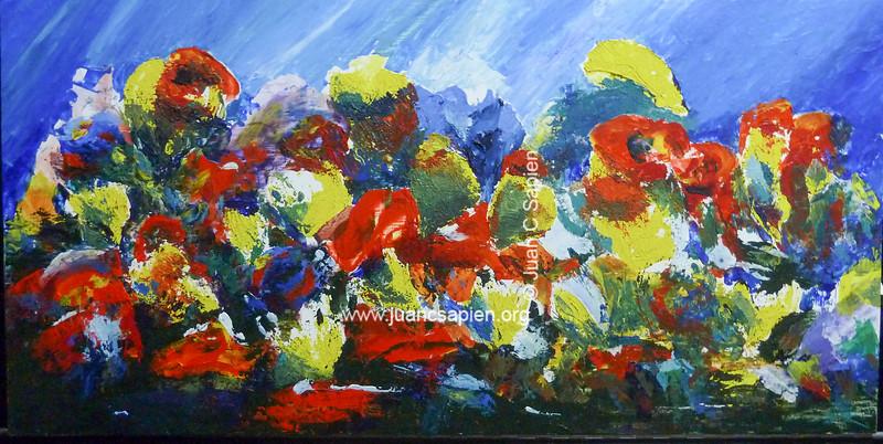 Flores y mas (acrilico)