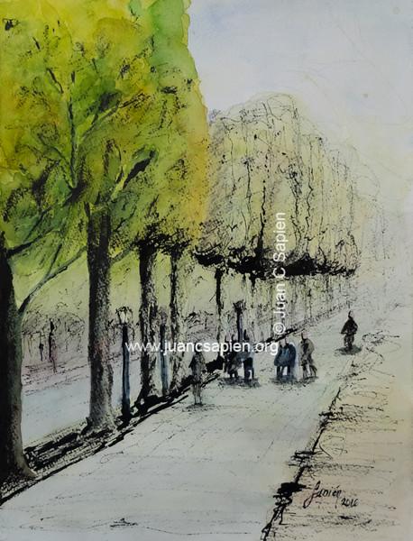 Paris TA1 (tinta & acuarela)