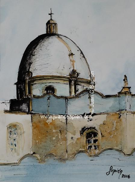 Iglesia TA1 (tinta & acuarela)